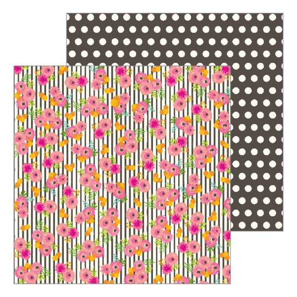 "Jen Hadfield for Pebbles Patio Party 12"" Patterned Paper Tablescape"