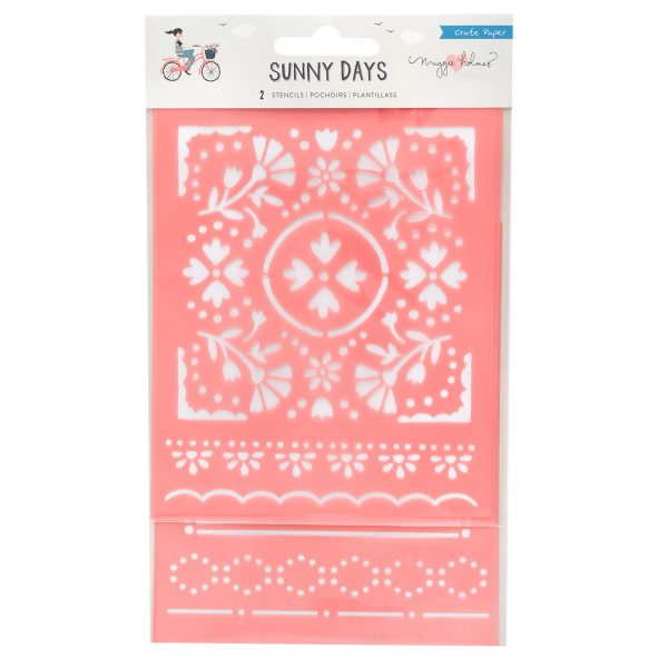 Maggie Holmes Sunny Days Double-Pack Floral Stencil Set
