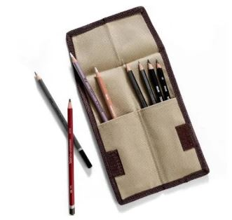 Derwent Canvas Pocket Pencil Wrap Case