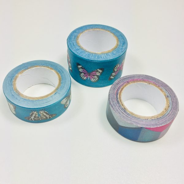 Washi Tape Deep Teal Pack Of 3