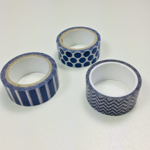 Washi Tape Admiral Blue Pack Of 3