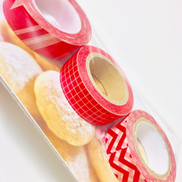 Washi Tape Red Pack Of 3