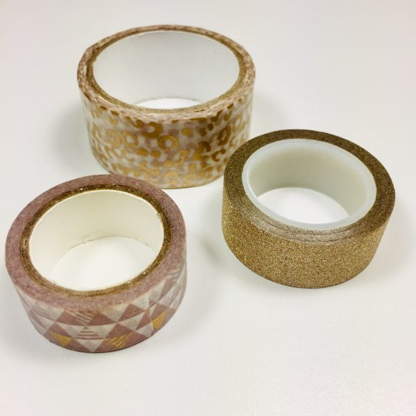 Washi Tape Bronze Pack Of 3