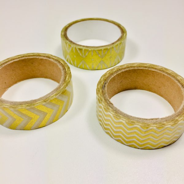 Washi Tape New Gold Pack Of 3
