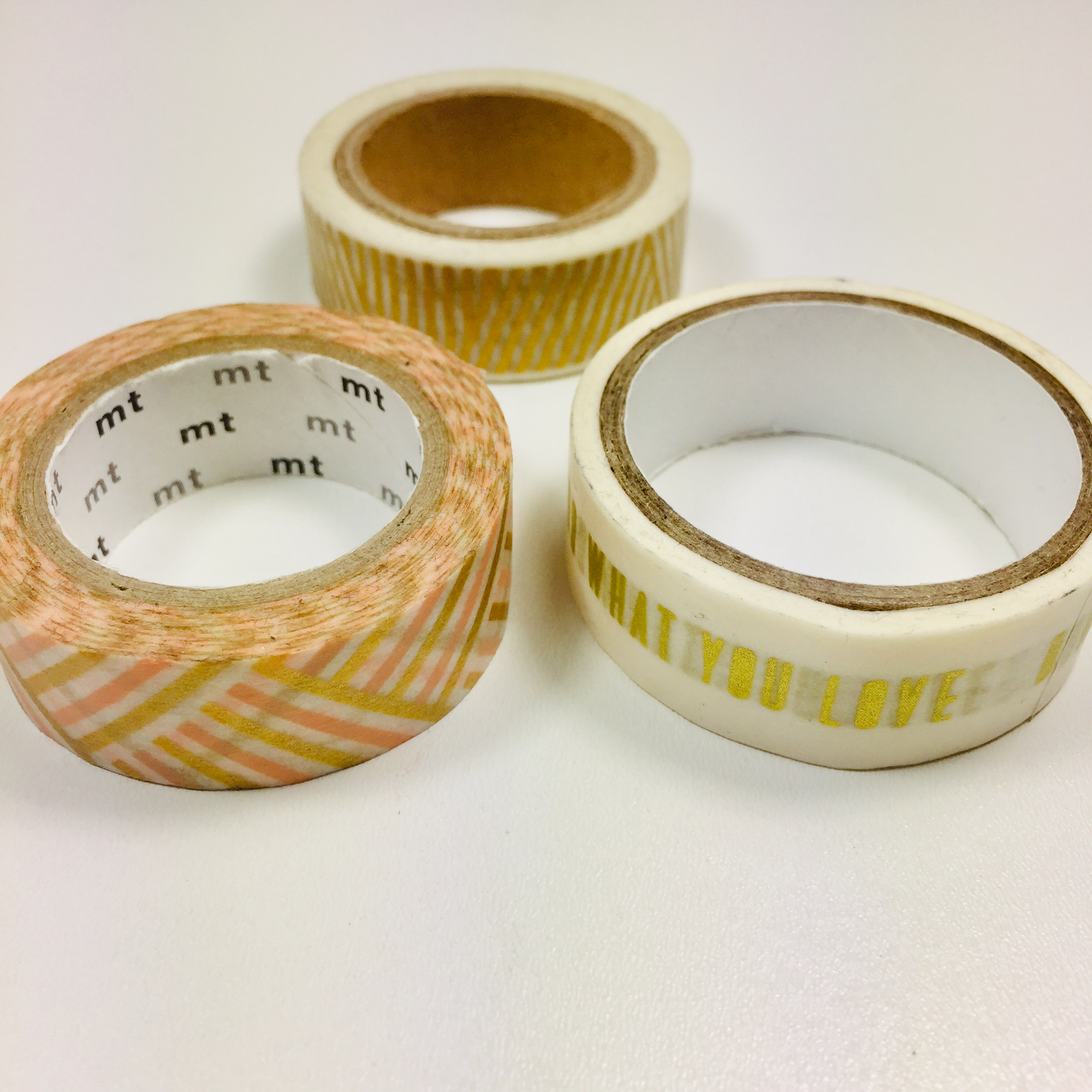 Washi Tape Peach Gold Pack Of 3