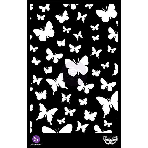 Prima Marketing Finnabair Elementals Butterflies Stencil