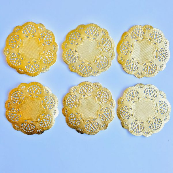 Ella Bonella Pack of 6 Gold Prima Doilies