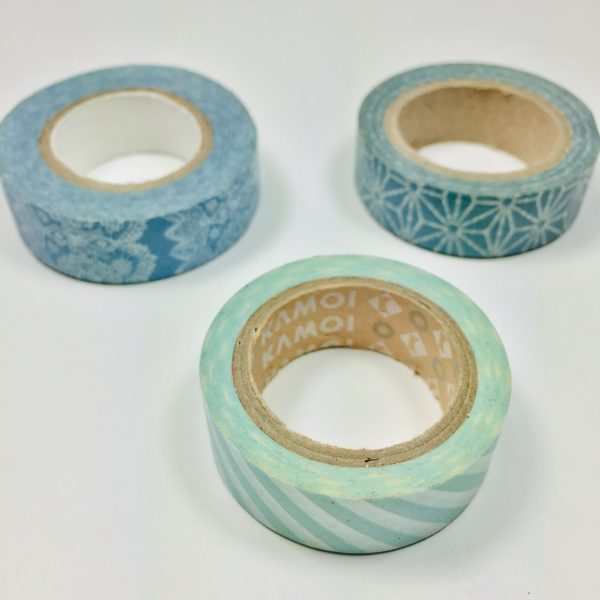 Washi Tape Aquas Pack Of 3