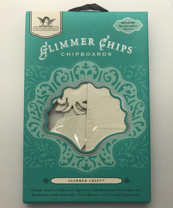 Tattered Angels Glimmer Chips Chipboard Seaside Beachcomber