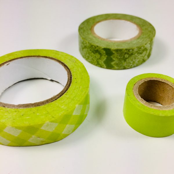 Washi Tape Limes Pack Of 3