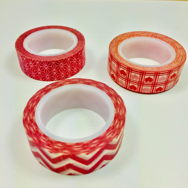 Washi Tape Raucous Reds Pack Of 3