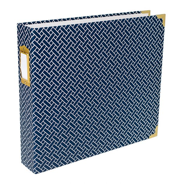 Becky Higgins Project Life 12 x 12 inch Navy Weave Album