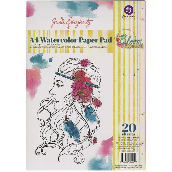 Prima Marketing Bloom A4 Watercolour Paper Pad Off White