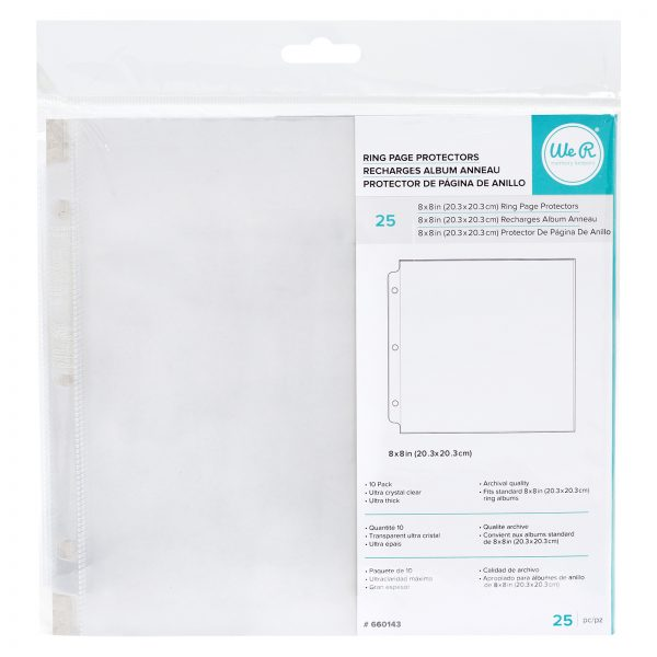 WRMK 8 x 8 Inch Page Protectors Pack of 10