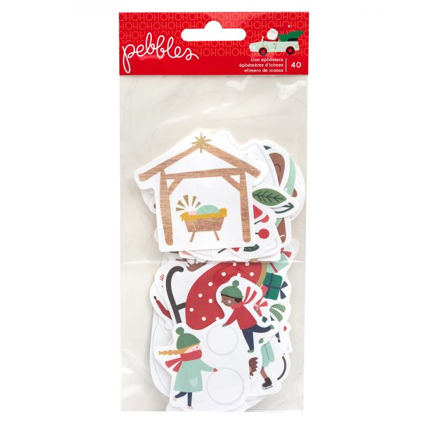 Pebbles Merry Little Christmas Icon Ephemera Pack