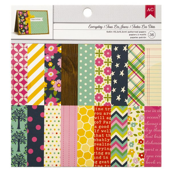 "American Crafts 6"" x 6"" Paper Pad - Everyday"
