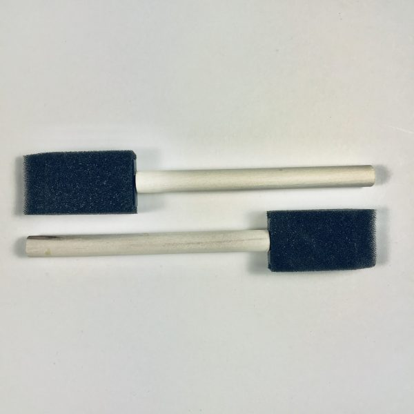 Pair of 1 inch Foam Brushes