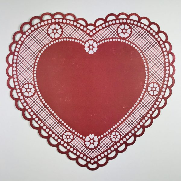 Die-Cut Heart Patterned Paper with Raised Embossing Pack of 2