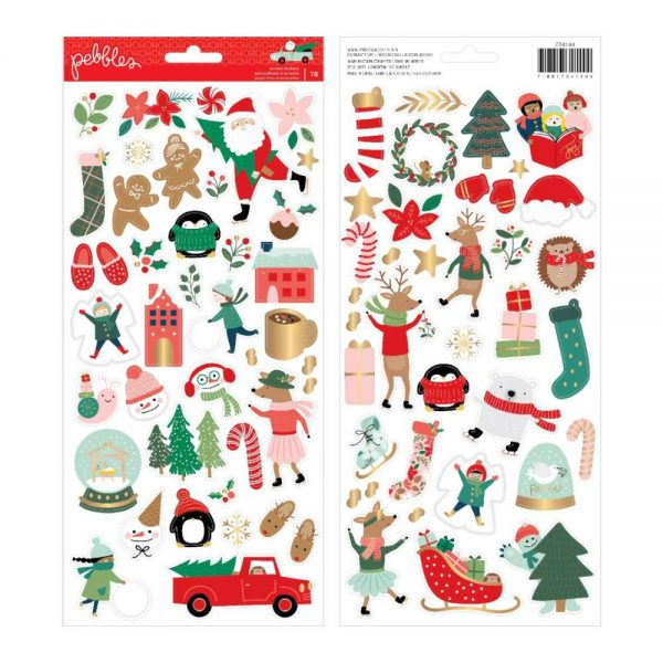 Pebbles Merry Little Christmas Accent Stickers