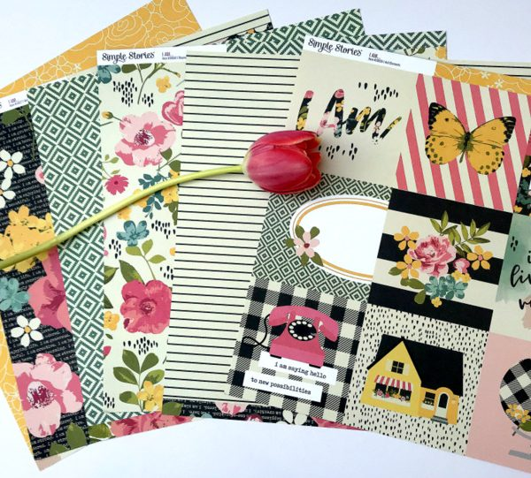 """12"""" x 12"""" Patterned Scrapbooking Papers"""