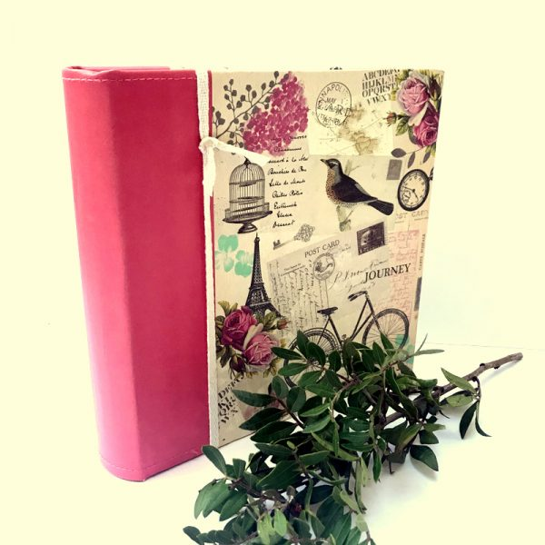 Ella Bonella 8.5 x 8.5 inch Canvas and Faux Leather Album with 50 Pages