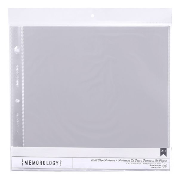 American Crafts Memorology 12 x 12 inch Page Protectors Pack of 10