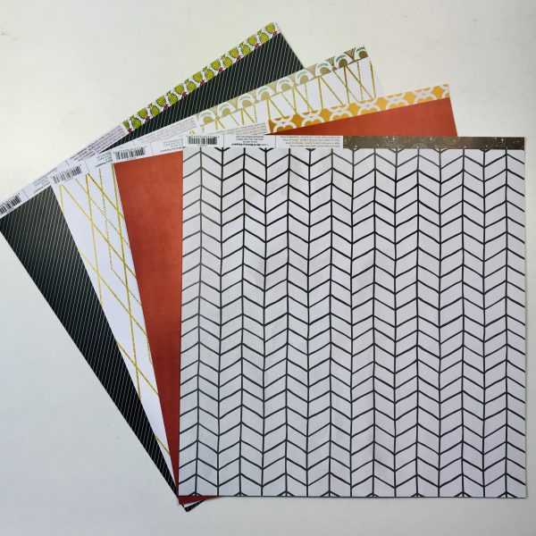 American Crafts WRMK Geo Abstract Paper Pack of 4