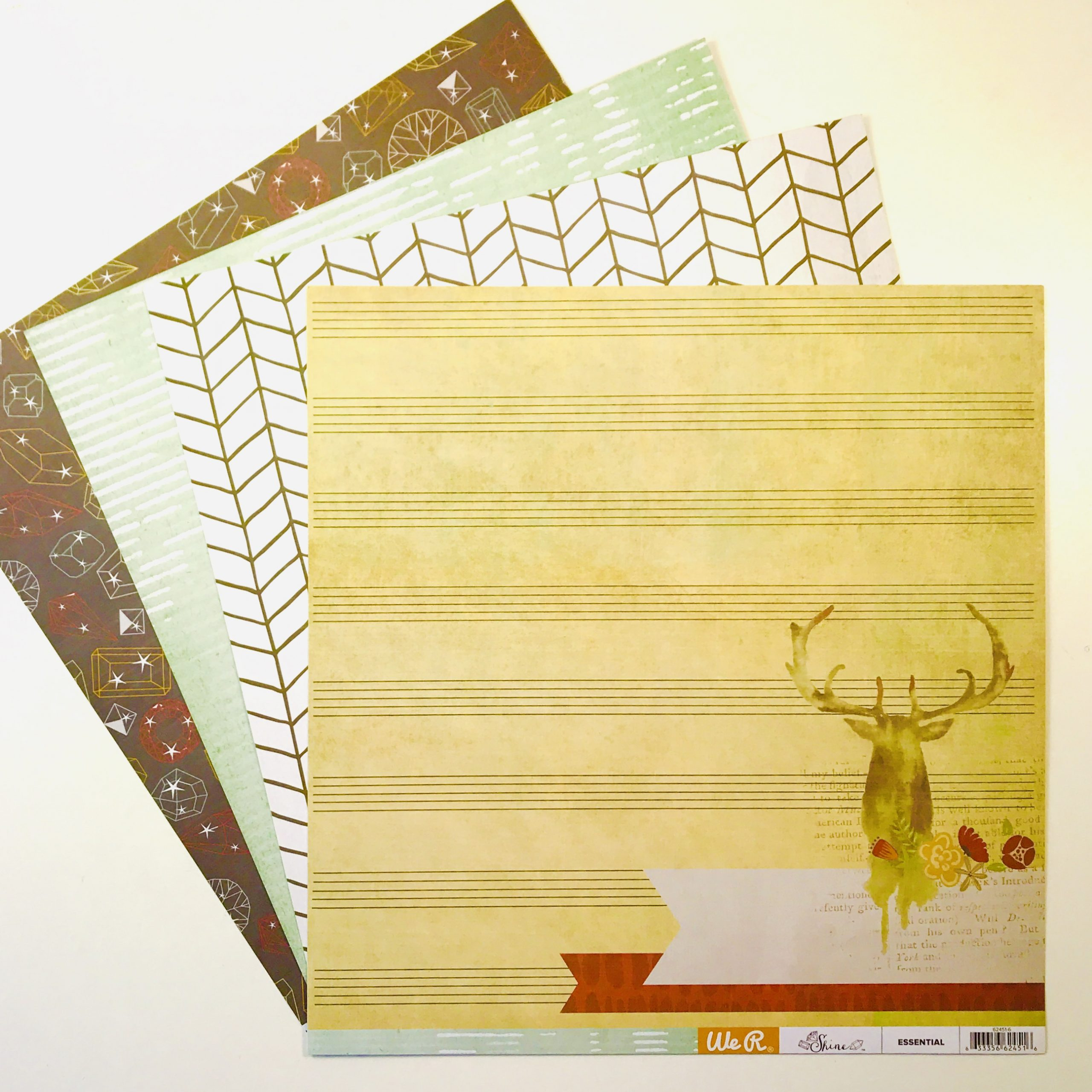 American Crafts WRMK Winter Nights Paper Pack of 4