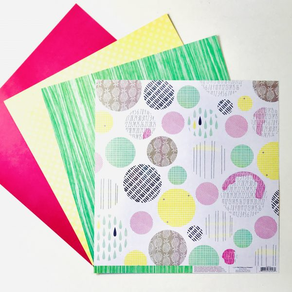 American Crafts WRMK Summer Brights Paper Pack of 4