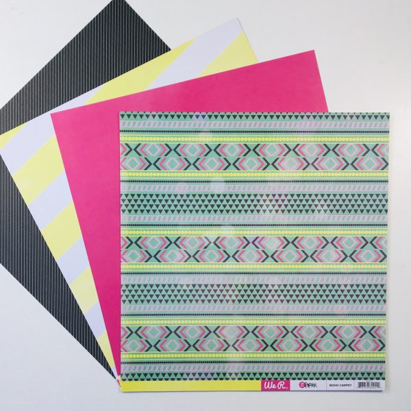 American Crafts WRMK Summer Fun Paper Pack of 4
