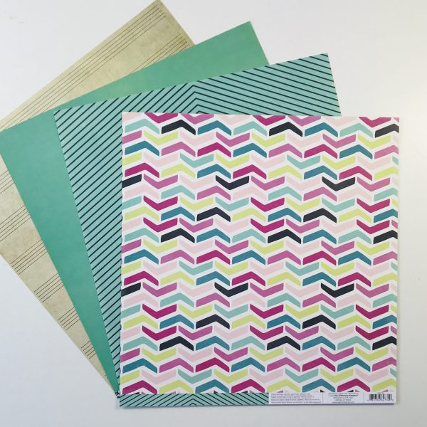 American Crafts WRMK Pretzel Party Paper Pack of 4