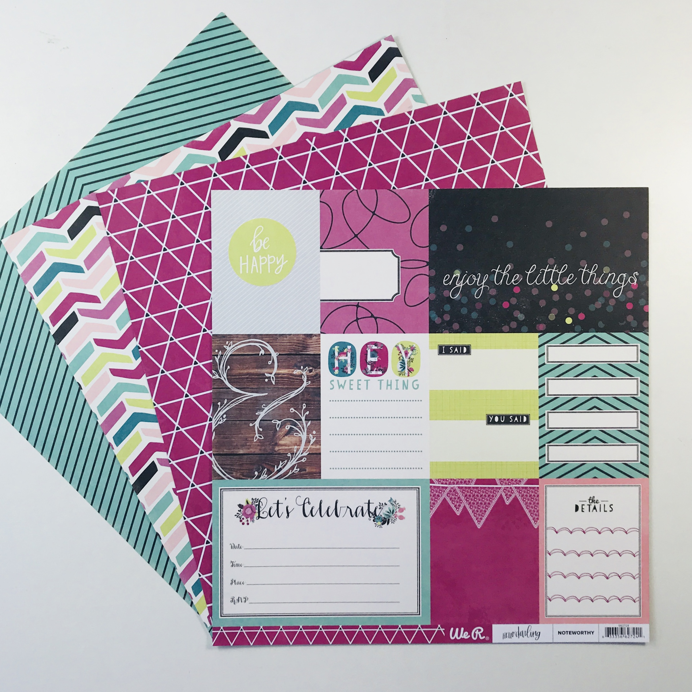 American Crafts WRMK Boho Vibe Paper Pack of 4