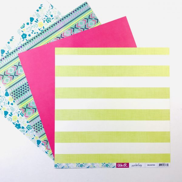 American Crafts WRMK Spring Fling Paper Pack of 4