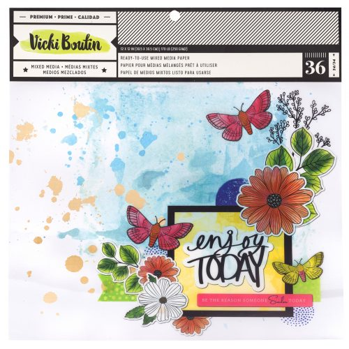 Vicki Boutin Color Kaleidoscope Mixed Media Pad