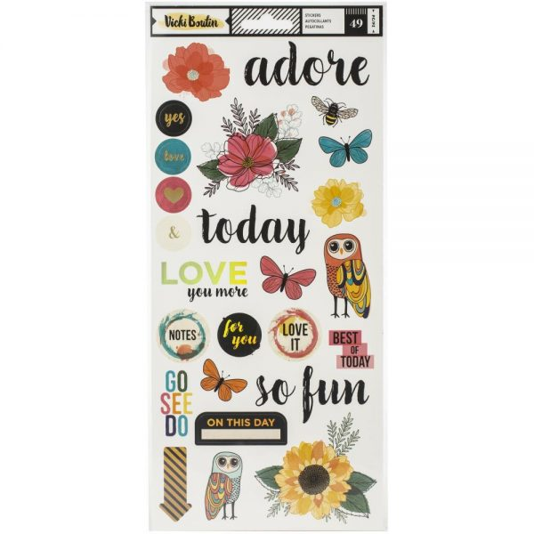 Vicki Boutin Wildflower And Honey Metallic Stickers