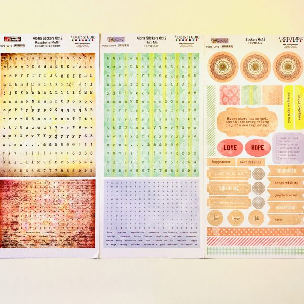 7 Dots Hopefully Sticker Sheets Alphas, Elements & Phrases