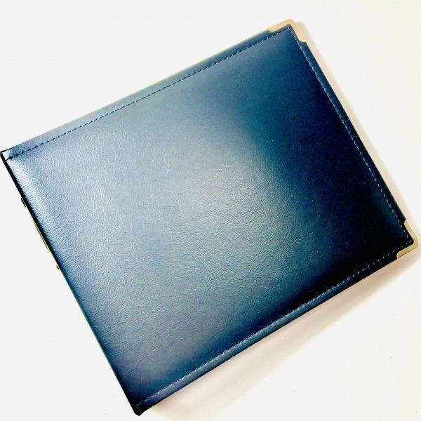 American Crafts 8 x 8 Inch Black Faux Leather Album