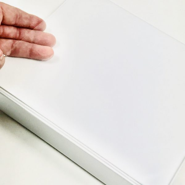 EB A5 (9 x 8 Inch) White PU Album With 5 Page Protectors