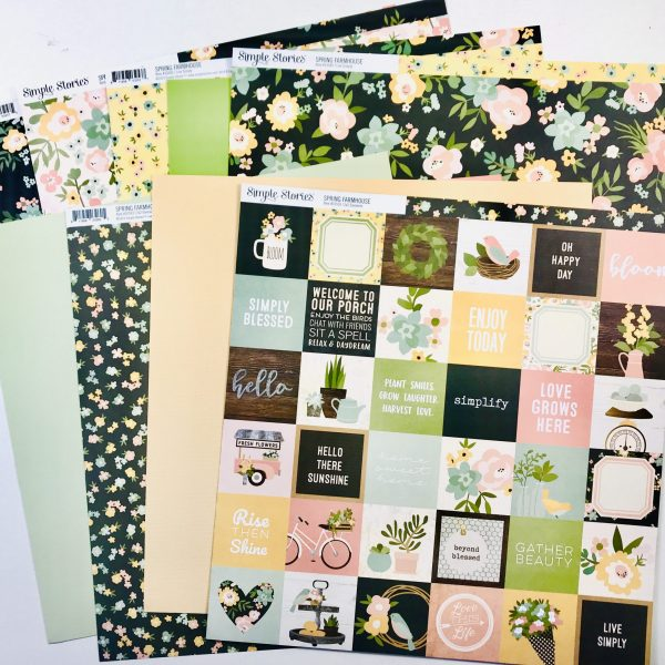 Spring Farmhouse Paper Pack Of 9