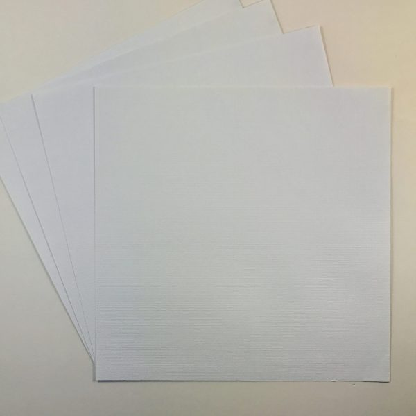 216gsm Textured Cardstock White Ice Linen Pack of 4