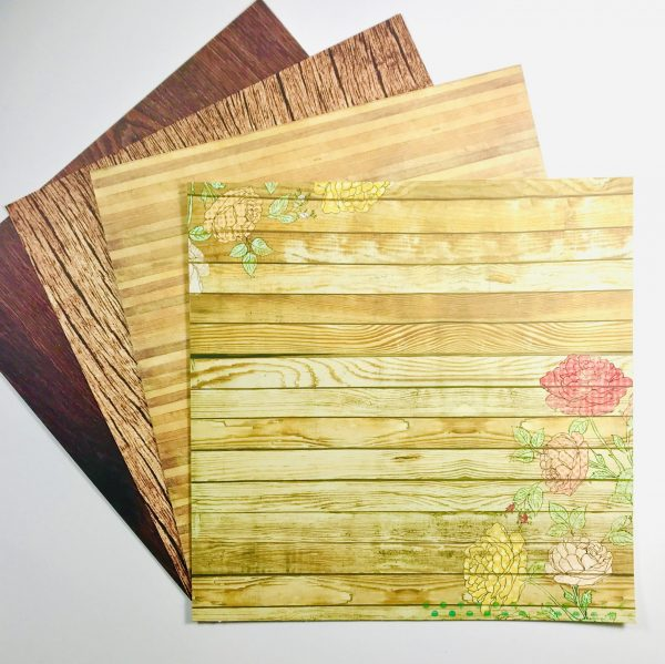 Woodgrain Speciality Paper Pack Of 4