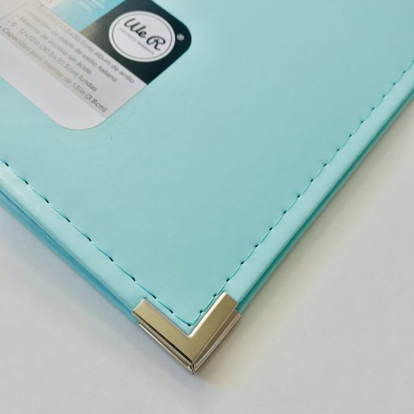 WRMK 12 x 12 Inch Mint Faux Leather Album with 5 Page Protectors