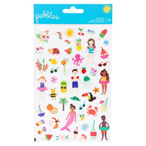 American Crafts Pebbles Oh Summertime Clear Stickers Double Pack