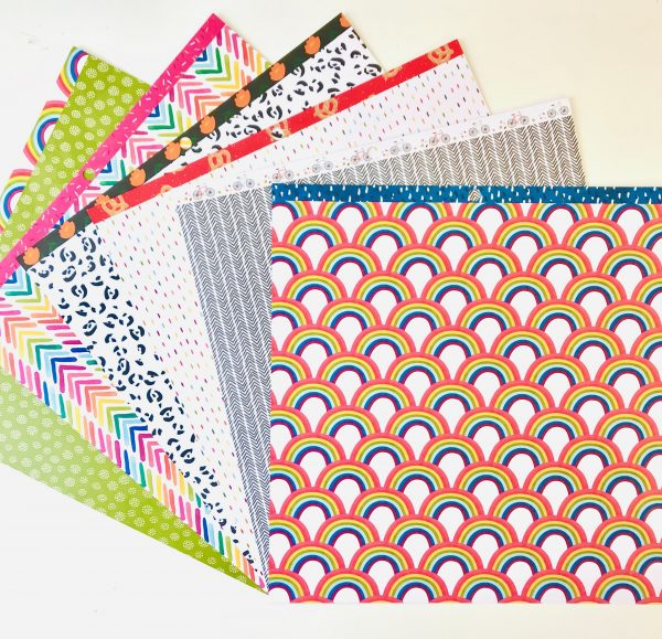 American Crafts Amy Tangerine Slice Of Life Rainbow Life Paper Pack Of 6