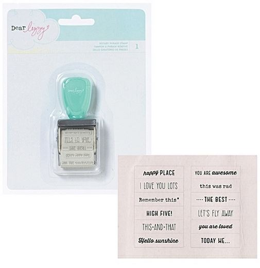 American Crafts Dear Lizzy Rotary Phrase Stamp
