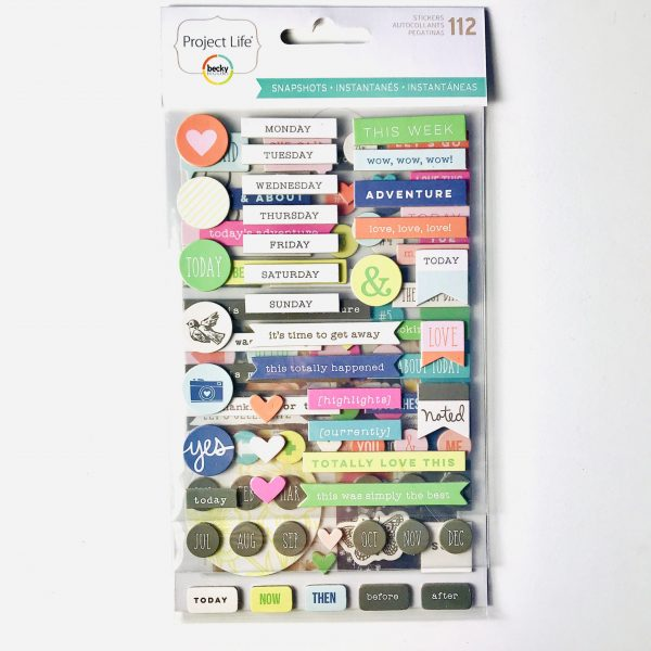 American Crafts Project Life Snapshots Chipboard Stickers Giant Pack