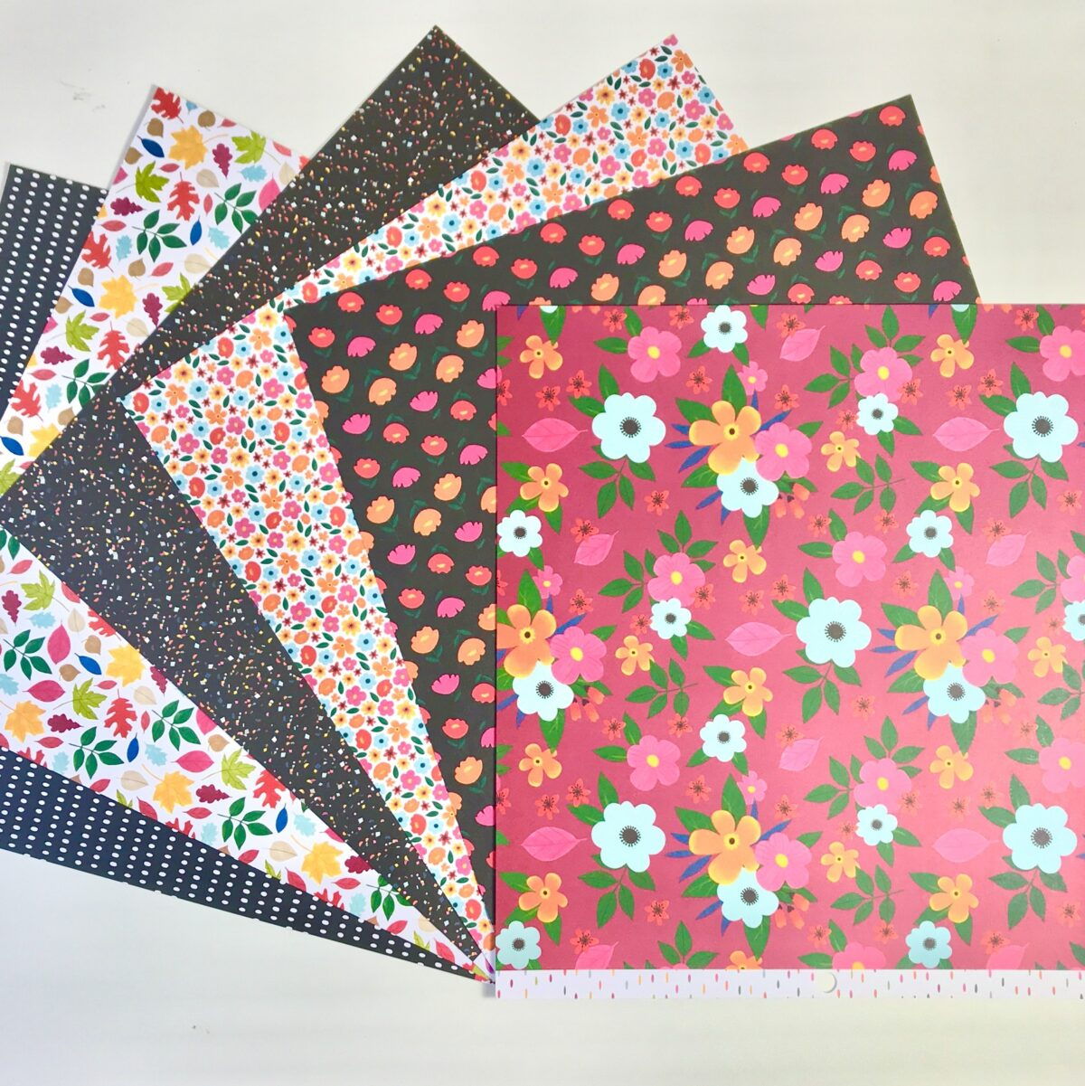American Crafts Amy Tangerine Slice Of Life Botanicals Paper Pack Of 6