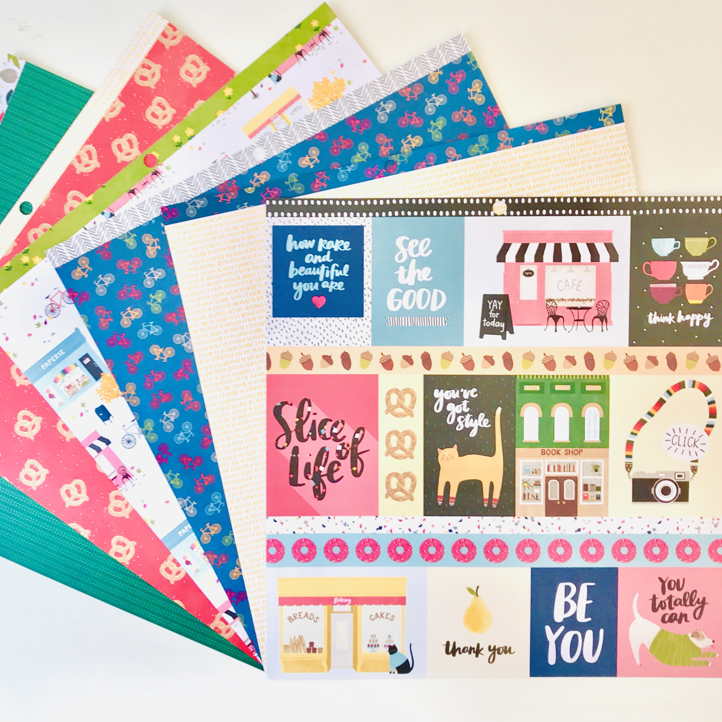American Crafts Amy Tangerine Slice Of Life Parisian Life Paper Pack Of 6