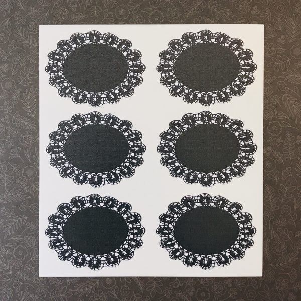 Ella Bonella Black Doily Stickers