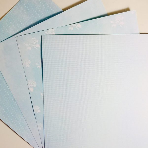 Shades Of Blue Paper Pack Of 4